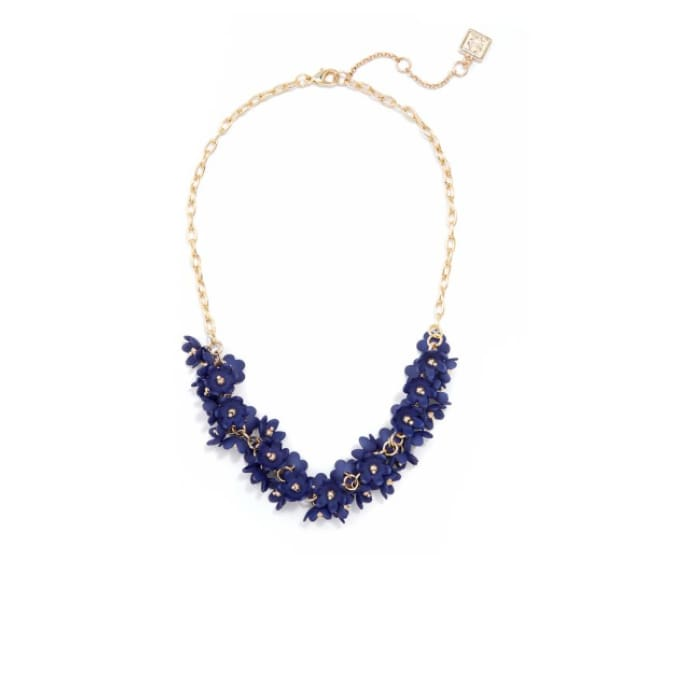 Necklace Tiny Petals Navy Zenzii - Accessories- Jewelry and Totes