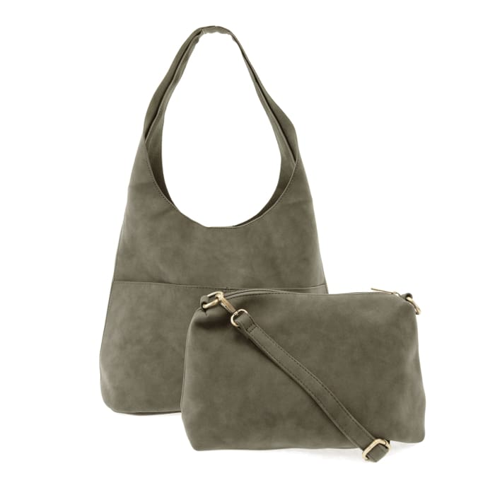 Sage Jenny Sueded Hobo Tote - Accessories- Jewelry and Totes