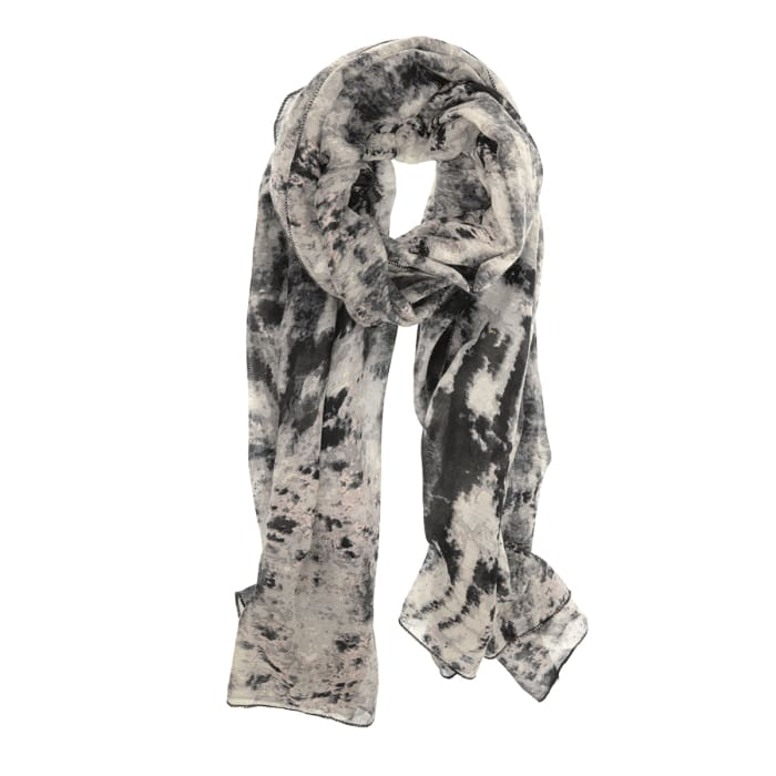 Scarf Crinkled Grey Ikat - Accessories- Jewelry and Totes