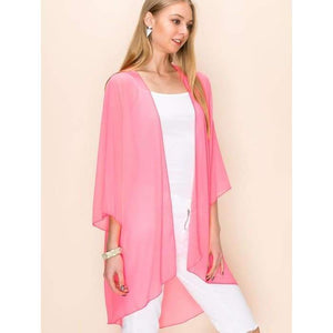 Sheer Luck Solid Kimono Cardigan S-3XL **10 Colors! - Apparel - Plus Size 1XL - 3XL