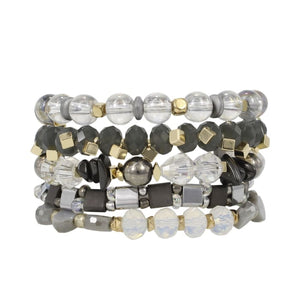 Stack your Style Foxxy Stack Bracelet Set of Five - Accessories- Jewelry and Totes