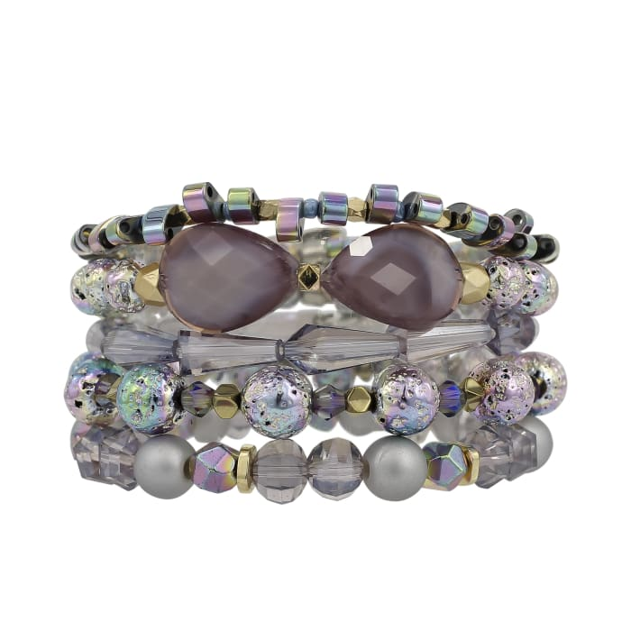 Stack your Style Juliett Stack Bracelet Set of Five - Accessories- Jewelry and Totes