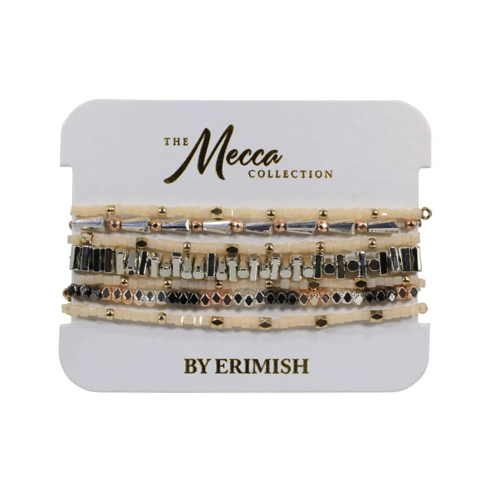 Stack your Style Mecca Stack Bracelet Carded Set of Seven - Accessories- Jewelry and Totes