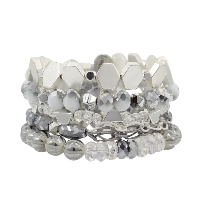 Stack your Style Oasis Stack Bracelet Set of Five - Accessories- Jewelry and Totes