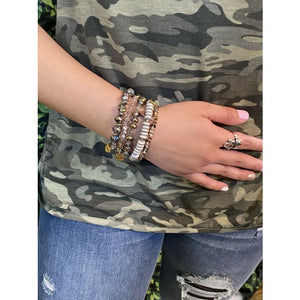 Stack Your Style Sandy Stack Bracelet Set of Five - Accessories- Jewelry and Totes