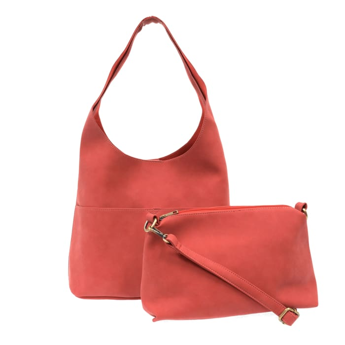 Tomato Jenny Sueded Hobo Tote - Accessories- Jewelry and Totes