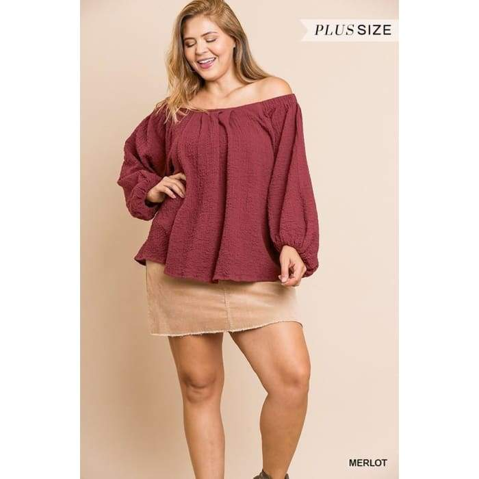 Wine Down Merlot Plus Top XL-2XL - Apparel - Plus Size 1XL - 3XL