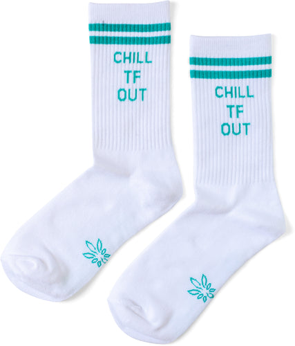 Chill TF Out Crew Socks
