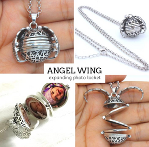Personal Memories Expanding Photo Locket with Free Worldwide Shipping