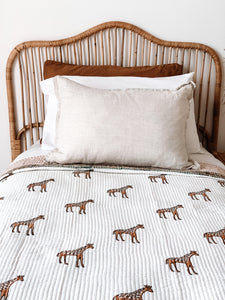Single Kantha Quilt ~ Giraffe