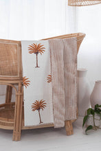 Load image into Gallery viewer, Kantha Cot Quilt ~  Rust Palm