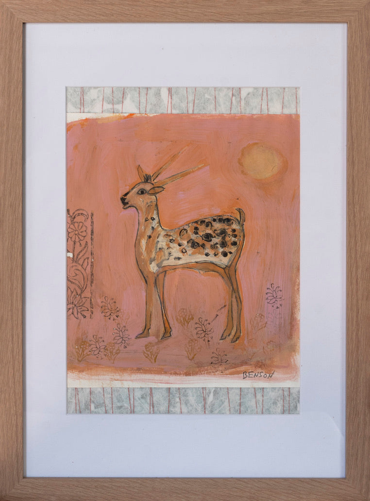 Print ~ The Sunset Deer Collage