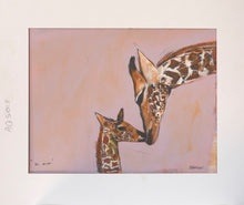 Load image into Gallery viewer, Print ~ Giraffes ~ Hi Mum