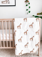 Load image into Gallery viewer, Kantha Cot Quilt ~ Giraffe