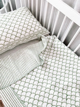 Load image into Gallery viewer, Kantha Cot Quilt ~   Sage Shell