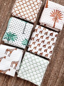 Kantha Cot Quilt ~   Camel Train