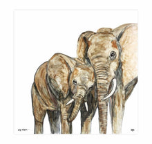Load image into Gallery viewer, Print ~ Elephants ~ 'Duty of Care'