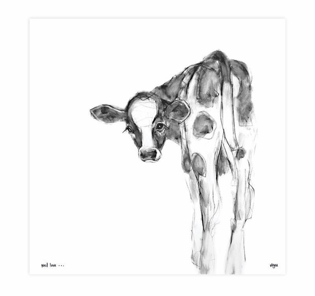 Print ~ Cow ~ 'Real Love'