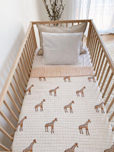 Load image into Gallery viewer, Kantha Cot Quilt ~ Giraffe ( restock coming soon )