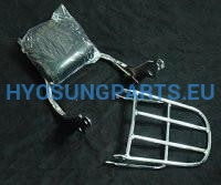 Hyosung Aquila Carry Rack & Back Rest Gv650 - Free Shipping Hyosung Parts Eu