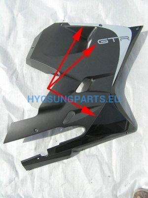 Hyosung Sticker kit Lower Fairing Right GT125R GT250R GT650R - Free Shipping Hyosung Parts EU