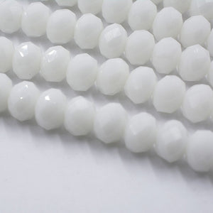 Silver White Color DIY Crystal Glass Beads
