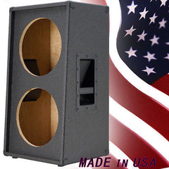 2X12 Vertical Slanted guitar Speaker Empty Cabinet Charcoal Black tolex G2X12VSL