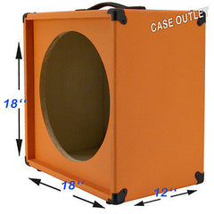 "1X15  Empty Guitar Speaker Cabinet For 15"" JBL E130 Orange Tolex"