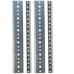 "Rack Rail 4 ea 10.5"" or 6 U Space 10/32 thread  for amp/effect Racks zinc plated"