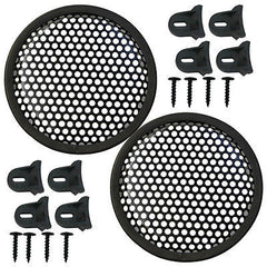 "Speaker Grill 8"" Round shape, 4 each includes 16 plastic clamps and hardware"