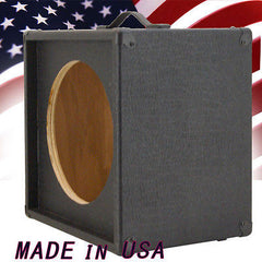 1x12 Guitar Speaker Extension Cabinet Empty Black Elephant Skin Finish Tolex