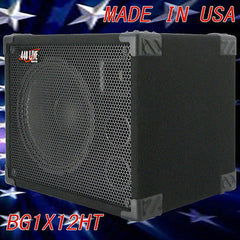 1X12 with tweeter Bass Guitar Speaker Cabinet 350W 8 Ohms Black Carpet  440LIVE