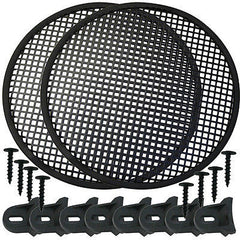 "Speaker Grill 15"" Round shape 2 pieces includes plastic clamps w hardware"