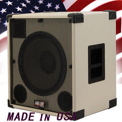 1X15 with tweeter Bass Guitar Speaker Cabinet 500W 8 Ohms White Tolex  440LIVE