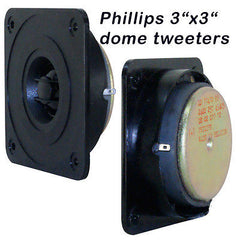 Philips 3X3 Dome Tweeter  2 each  Made in Belgium for studio monitors
