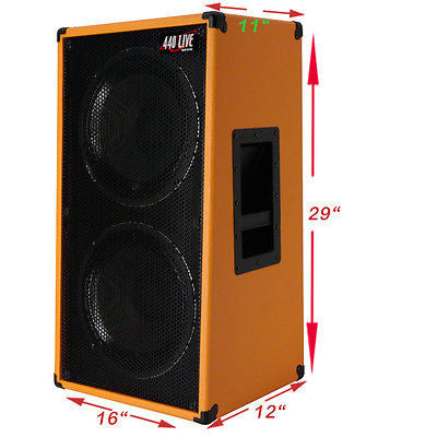 Greg's Pro Audio | 2X12 Vertical Slanted guitar Speaker Empty ...