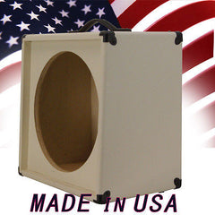 "1X15 Empty Guitar Speaker Cabinet For 15"" JBL E130-E140 Blonde White Tolex"
