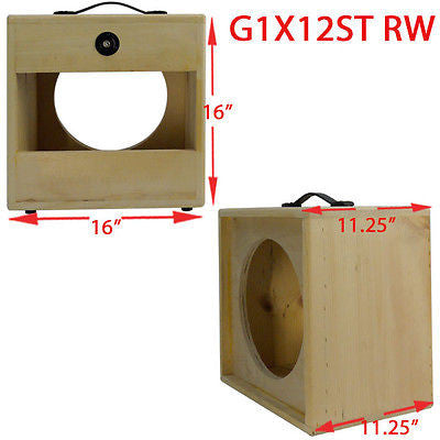 greg 39 s pro audio 1x12 solid pine raw wood extension guitar speaker empty cabinet g1x12. Black Bedroom Furniture Sets. Home Design Ideas