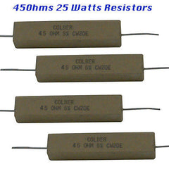 Ceramic Resistors 4 each 45 Ohms 25 watts