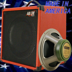 1x12 Guitar Speaker Extension Cabinet W 8 Ohm CELESTION greenback fire red tolex