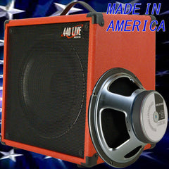1x12 Guitar Speaker Extension Cabinet W 8 Ohm CELESTION G12K 100 fire red tolex