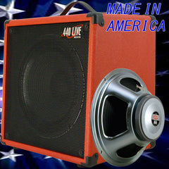 1x12 Guitar Speaker Extension Cabinet W 8 Ohm CELESTION Seventy80 fire red tolex