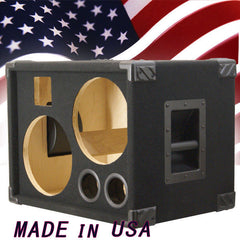 2X10 Bass Guitar Speaker Cabinet Empty, Black Carpet BG2X10HT