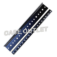 "Rack Rail 6U Space 10.5"" 10/32 thread  2 each for amp/effect Racks Black Plated"