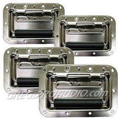 (4pcs) 4x6 Recessed medium duty spring loaded flip handles nickel