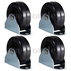 "(4pcs) Hard rubber 2"" Rigid Casters"