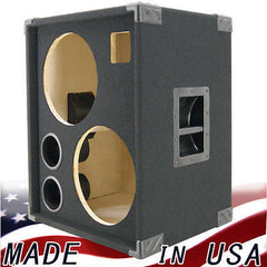 2X12 with Tweeter  Empty Bass Guitar Speaker Cabinet Black Carpet BG2X12HT-BC