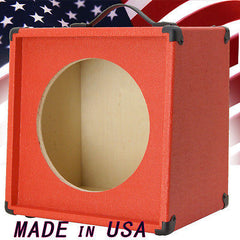1x12 Guitar Speaker Extension Cabinet Empty Fire Hot Red Texture Tolex