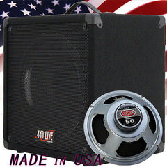 1X12 guitar spker cabinet w/CELESTION Rocket 50 speaker 8 Ohms strait up shape