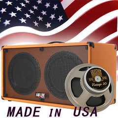 (1) 2x12 Guitar Speaker Cabinet Orange Tolex W/Celestion Vintage 30 Speakers